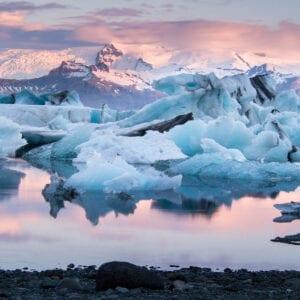 Jökulsárlón (Jokulsarlon Glacier Lagoon) Iceland