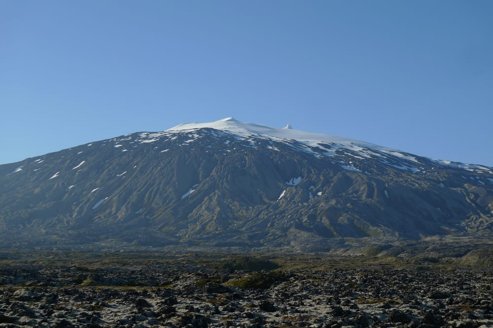 Snæfellsjökull,in the Snaefellsnes Peninsula