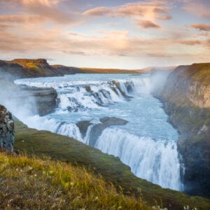 Gullfoss, in the Golden Circle, Iceland (Þingvellir, Gullfoss and Geysir)
