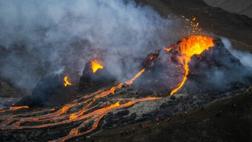 Latest erupting volcano in Iceland on the Reykanes peninsula